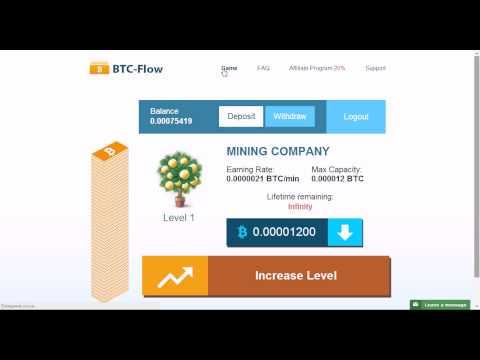 Мега-BTC кран!!! 1200 сатоши каждые 8 минут! BTC flow