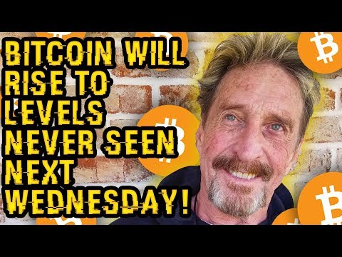 """""""You MUST NOT PANIC NEXT WEDNESDAY When BITCOIN RISES To LEVELS NEVER SEEN"""" McAfee's NEW TOP WARNING"""