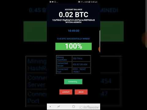 iPhone and android bitcoin mining app.. mine 0.45 BTC in 2 minutes real and live
