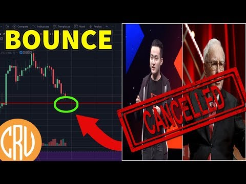 Bitcoin Bounce Here - Justin Sun Cancels Lunch with Warren Buffet | Cryptocurrency News