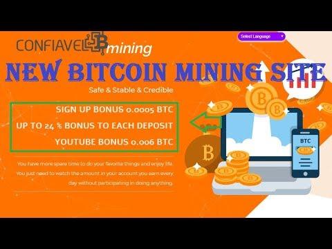 Confiavelmining | NEW Bitcoin Mining Site 2019 | Sign up Bonus 0.0005 BTC | Daily Profit Up To 11%