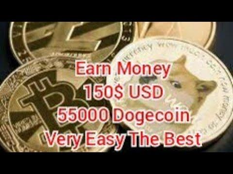 Earn Money 150$ USD Very Easy Mining Bitcoin Dogecoin 999Dice