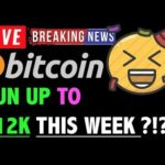 Bitcoin RUN UP TO $12K THIS WEEK?! 🛑- LIVE Crypto Trading Analysis & BTC Cryptocurrency Price News
