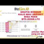 Wow Baru 0 hari btcearn Mining bitcoin GRATISAN recomendasi banget live 0.002 btc