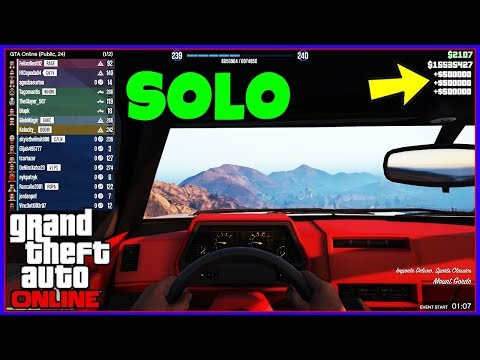 SOLO NO CARS Gta 5 Online Money Glitch... (Make Money Fast) *EASY* - No Arena Or Bunker