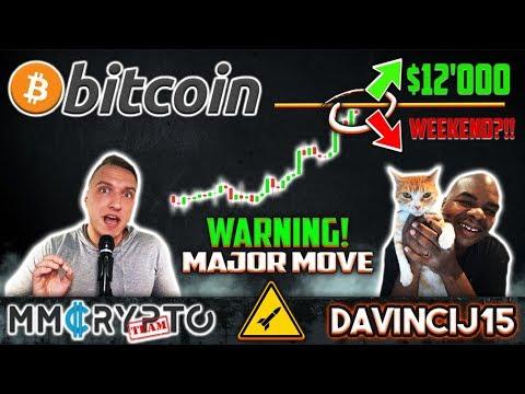DavinciJ15 - Bitcoin BREAKOUT $12'000 THIS Weekend?!!