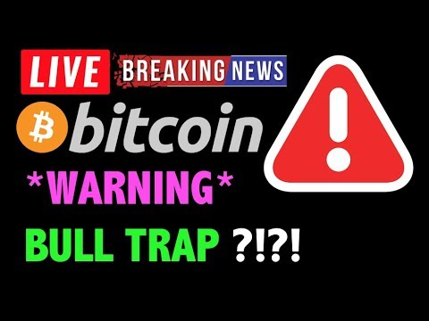 Bitcoin *WARNING* GIGANTIC BULL TRAP?!❗️LIVE Crypto Trading Analysis & BTC Cryptocurrency Price News