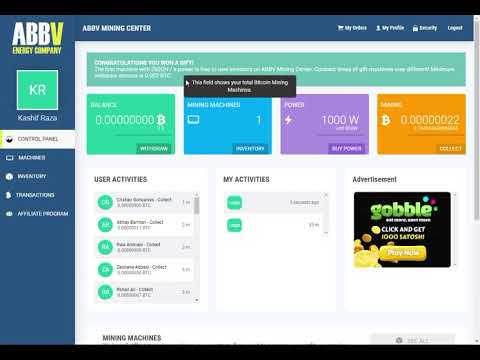Abbv Mining New Free Bitcoin Mining Site 2019 | min withdraw 0.002 | New Btc Earning Site | KRTV