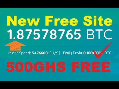 New High Earning Free Bitcoin Cloud Mining Site 2019   New Free Bitcoin Cloud Mining Site 2019
