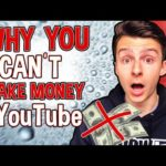 3 REASONS WHY YOU CAN'T MAKE MONEY ONLINE WITH YOUTUBE (NOT WHAT YOU THINK)