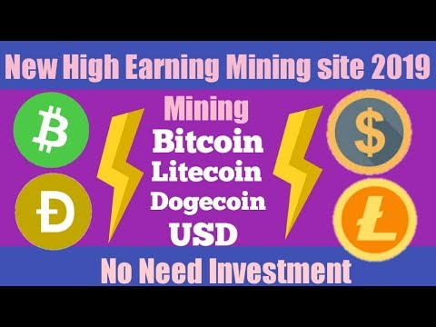New high Earning Site 2019 | Signup Get Bonus | Mining Bitcoin Litecoin USD | No Need Investment
