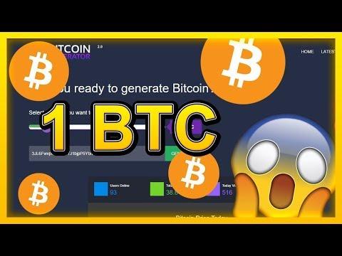 Free Bitcoin Mining, Generate 1 BTC - Bitcoin Generator 2019