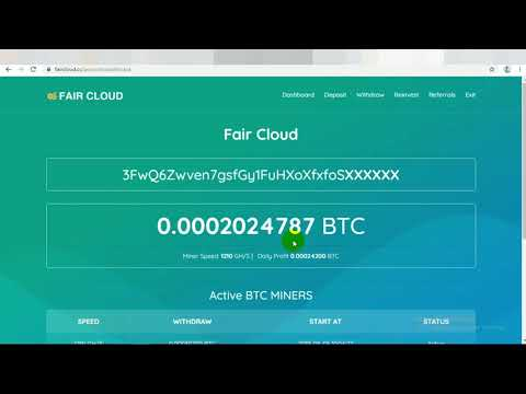 COMPLETED WITHDRAW - FAIRCLOUD FREE 500 GH/S | MINING BITCOIN TERBARU