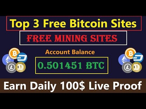Best 3 FREE Bitcoin Mining Sites | Free Earning Site | Free Bonus | Live Payment Proof