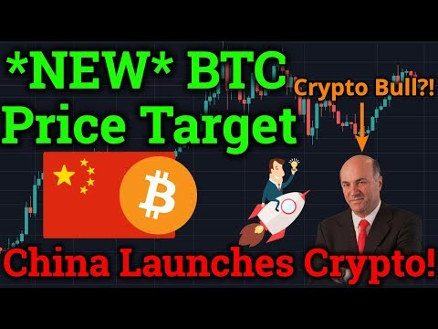 *NEW* Bitcoin Price Target! China Launching Cryptocurrency! Kevin O'Leary a BTC Bull? News/Analysis