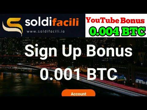 Soldifacili.io|New Bitcoin Mining site|Sing Up Bonus 0.001 BTC|YouTube review Bonus 0.004 BTC
