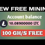 New Free Bitcoin Mining 100 GH/S | Best Free Crypto Mining Site 2019