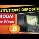 Bitcoin News: Institutional Investors Depositing $200-$400M Per Week