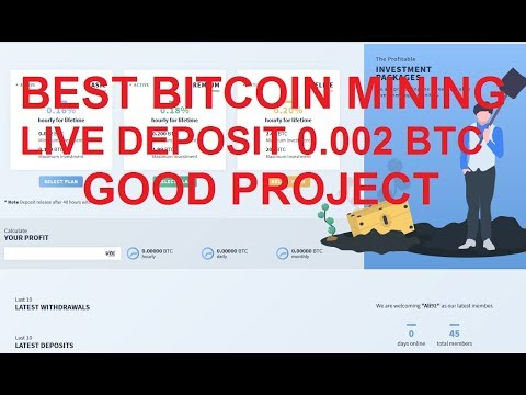 Best Bitcoin Mining | Live deposit 0.002BTC | Good Project | Instant Withdrawal