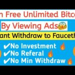 Earn Free Unlimited Bitcoin By Viewing Ads |Ads Watching Job Free Bitcoin| Live Payment Proof