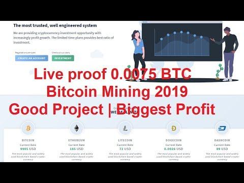 Live proof 0.0075 BTC | Bitcoin Mining | Good Project | Biggest Profit