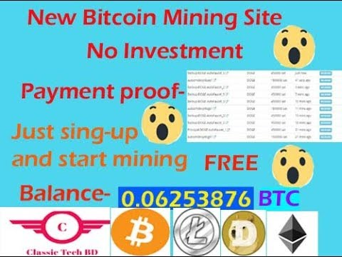 Free Bitcoin Mining Site 2019.No Investment.Faucethub payment.Classic Tech BD.By Shahin Khan.