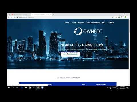 Ownbtc.Co New Fast Bitcoin Mining Site With Blockchain Tran-cation Proof- Just Earn