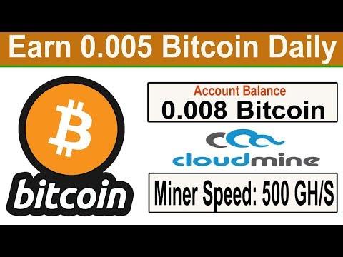 New Bitcoin Cloud Mining Site 2019 | Earn Daily 0.005 Bitcoin