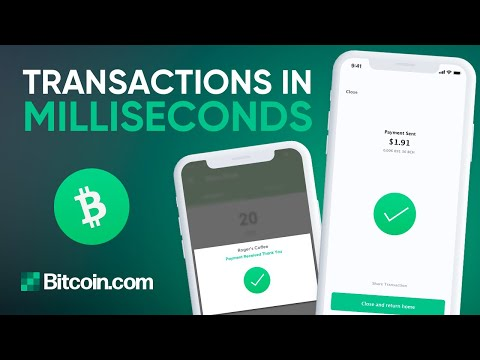 Bitcoin Cash Is Lightning Fast With These Two Apps⚡