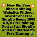 New Big Free BitCoin Mining Sites WithOut Invesment Free SignUp Bounes And Get Strat To Free Earning