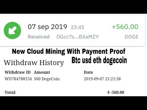 New Free Bitcoin Cloud Mining Site 2019 |1000 GHS FREE|Payment Proof