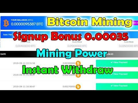Today   Bitcoin Mining   Signup Bonus 0.00035 BTC Power Free   Earncryptocoin   Acrony