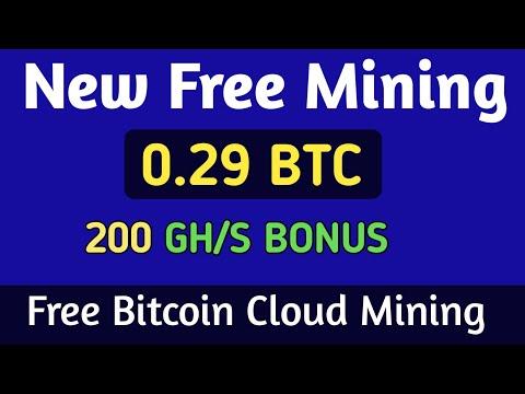 New Free Bitcoin Cloud Mining Site - Free Mining Site 200 GH/S Bonus