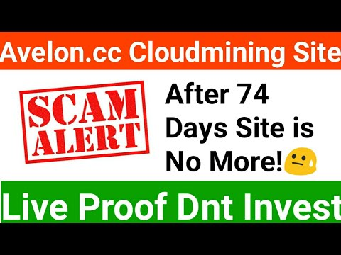 Avelon.CC Scam Not Paying Dnt Invest   New Bitcoin Cloudmining Websites 2019   Avelon Payment Proof