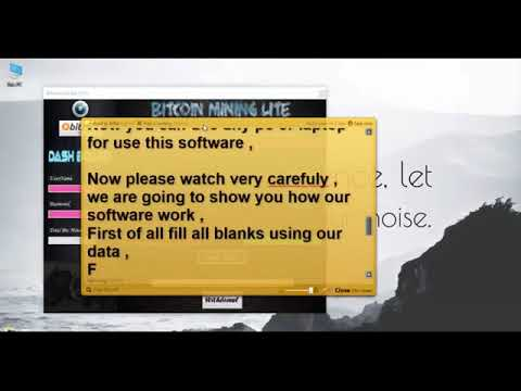 Bitcoin Mining Lite Software Earn $15 to $20 Free Daily in BTC New Version Out.mp4