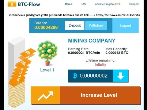 BTC – Flow 2015 ITALIA – BTC – FLOW 2015 – Bitcoin – 1200 BTC 2015 GRATIS