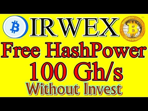 #IRWEX--The Best Free & Fast Bitcoin Mining Site Of 2019||Get 100 Gh/s Free HashPower||No Invest..