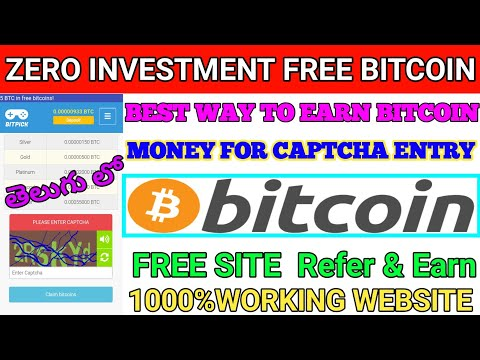 Earn money for home captcha entry job free Bitcoin| bitpick website earn unlimited Bitcoin in Telugu