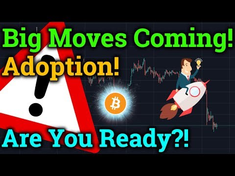 Big Bitcoin Moves Coming! Are You Ready? Adoption News! (Cryptocurrency/Altcoin Trading + Analysis)