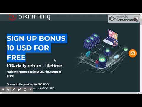 SikiMining Limited | New Trusted Bitcoin Mining Site | Signup Bonus 10 USD Live Proof