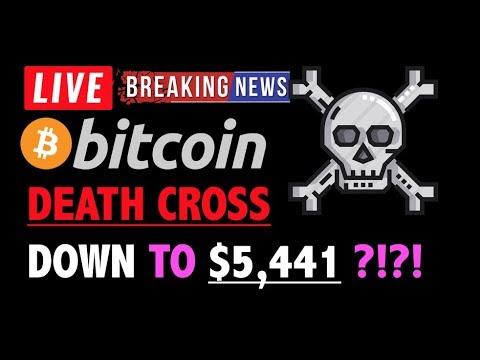 Bitcoin DEATH CROSS DOWN TO $5,441?❗️LIVE Crypto Trading Analysis TA & BTC Cryptocurrency Price News