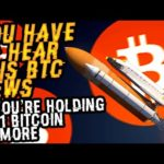 You HAVE To HEAR THIS BITCOIN NEWS If You're HOLDING 0.01 BTC Or MORE! This Will Cause BTC To MOON!