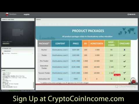 CryptoCoinIncome.com brings you OneCoin and how to make profits with Crypto Currencies Webinar