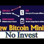 200 Gh/s Free HashPower||New Free Bitcoin Mining Site 2019||Earn 0.004 BTC Daily||No Invest.....
