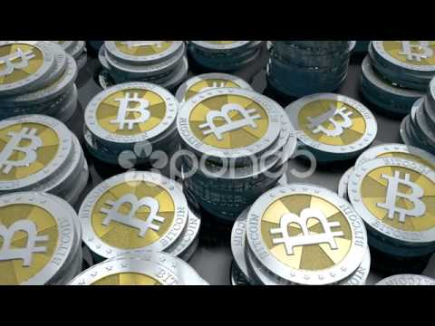 Bitcoin Loop 2 - After Effects - Cinema 4D - Stock Footage