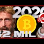 *NEW* MCAFEE BITCOIN PREDICTION 💰 Will He Eat His…?