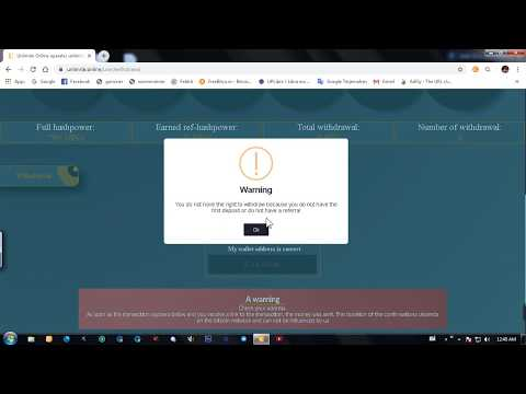 SCAM WARNING! web mining bitcoin l unlimited.online #Scam