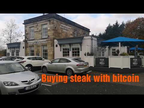 Buying Steak with Bitcoin using my Coinbase visa debit card