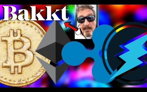 Bitcoin BAKKT Update | John McAfee Bitcoin Prediction, Ripple XRP, Electroneum, Ethereum,  BTC News