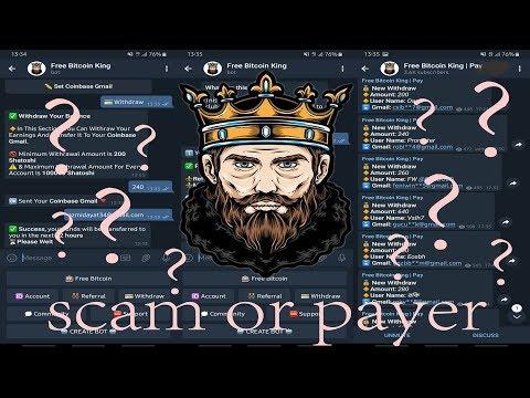 """PEMBUKTIAN BOT TELEGRAM """"Free Bitcoin King"""" SCAM OR PAYER"""